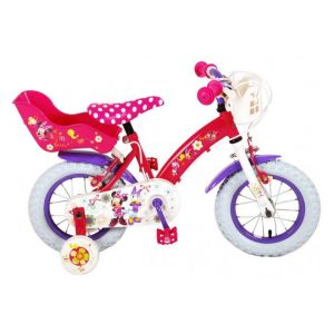 Disney Minnie Bow-Tique kids Bicycle Girls 12 inch Pink White 2 Hand brakes
