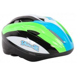 Volare Bicycle Helmet Deluxe - Green White Black - 51-55 cm