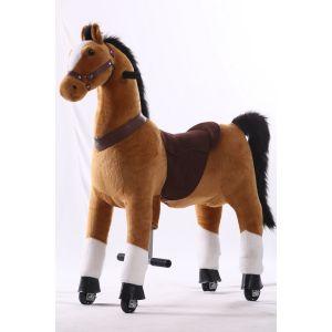 Kijana riding toy horse brown large