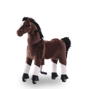 Riding toy horse chocolate brown large