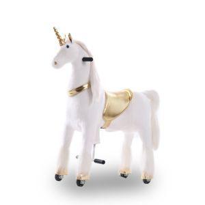 Kijana unicorn riding toy gold large
