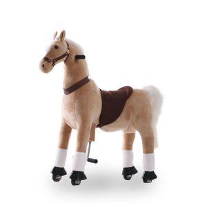 Kijana riding toy horse beige large