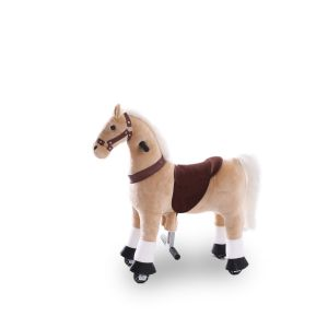 Kijana riding toy horse beige small