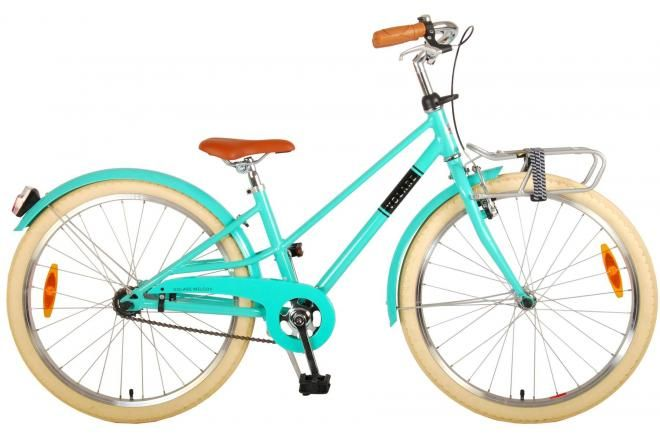 Volare Melody kids Bicycle Girls 24 inch Turquoise Prime Collection