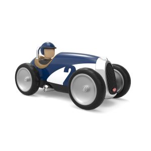 Baghera Retro speelgoedauto Racer blauw