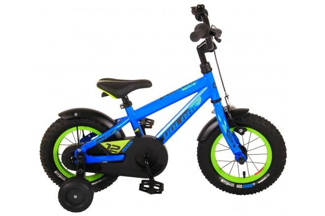 Volare Rocky Kids Bicycle - Boys - 12 inch - Blue - 95% assembled - Prime Collection