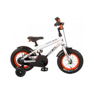 Volare Rocky Kids Bicycle Boys 12 inch Silver 95% assembled Prime Collection