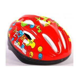 Volare Bicycle Helmet - Skate Helmet Deluxe Smileys red 51-55 cm