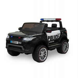 Kijana police electric kids car Ford Ranger style black