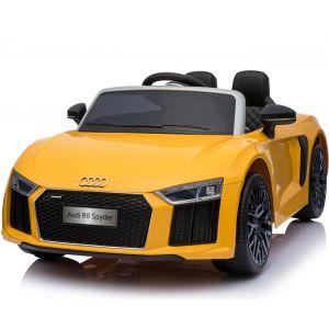Audi kidscar R8 cabrio yellow front view