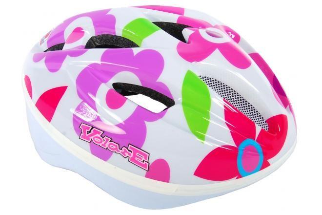 Volare Bicycle Helmet Deluxe White Flowers 51-55 cm