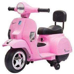 Mini vespa electric kids scooter pink