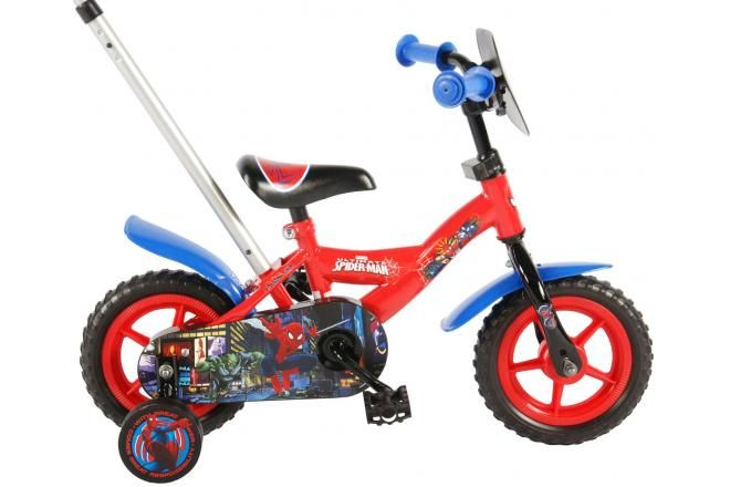 Spider-Man kids Bicycle - Boys - 10 inch - Red / Blue