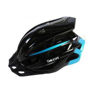 Salutoni Men's Bicycle Helmet - Black Blue - 54-58 cm