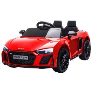 Audi electric kids car R8 convertible red