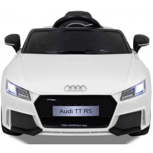 Audi TT RS kidscar white front view headlights