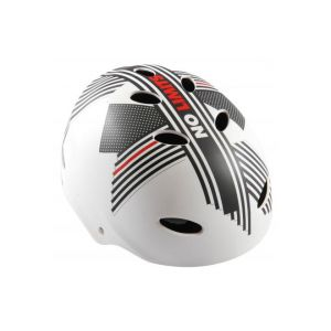 Volare Bicycle Helmet - Skate Helmet - No Limits - White Gray Red