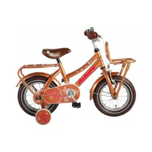 Volare Lovely Stars kids Bicycle Girls 12 inch Gold 95% assembled