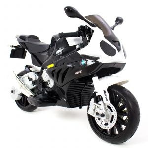 BMW kids electric motor black front view saddle