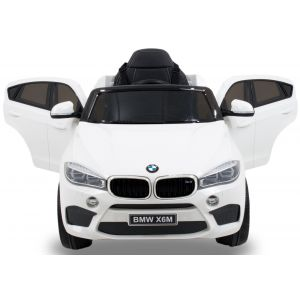 BMW X6 kidscar white side view front view