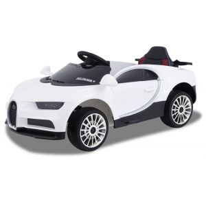 Sport kids car Bugatti style white