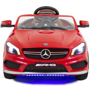 Mercedes CLA45 AMG kidscar red front view headlights