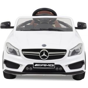 Mercedes CLA45 AMG kidscar white front view