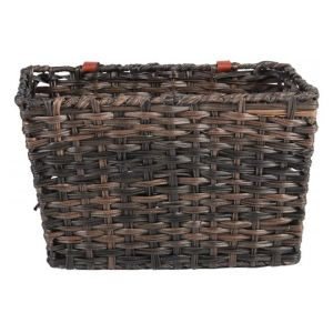 Volare Braided Wicker Bicycle Basket Large