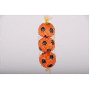 E&L sports - Three orange plastic balls in net