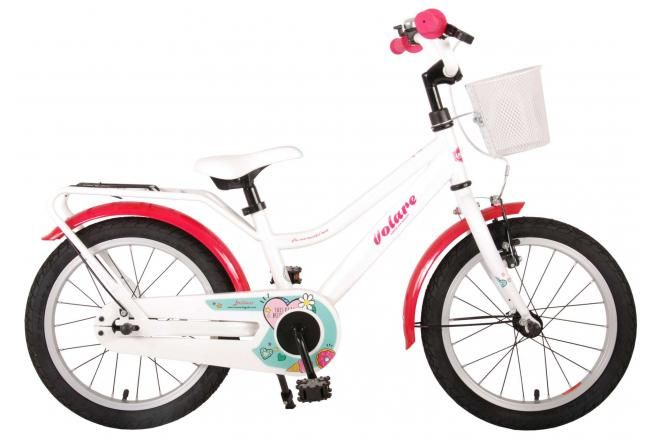 Volare Brilliant Kids Bicycle Girls 16 inch White 95% assembled