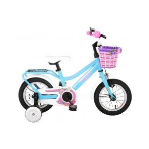 Volare Brilliant Kids Bicycle Girls 12 inch Blue 95% assembled