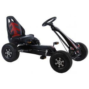 Volare Go Kart Racing Car Boys Large Pneumatic Tires black