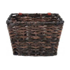 Volare Braided Wicker Bicycle Basket Small Brown