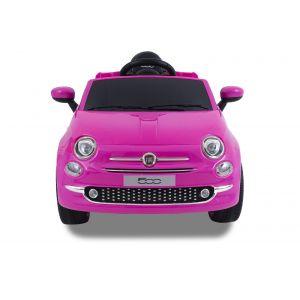 Fiat 500 electric kidscar pink front view