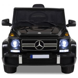 Mercedes G63 AMG kidscar black front view headlights