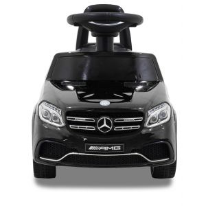 Mercedes GLS63 AMG push kidscar black front view