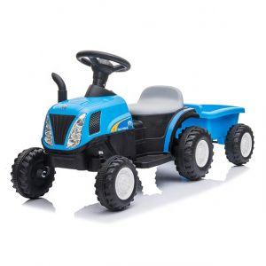 Kijana electric kids tractor with trailer blue