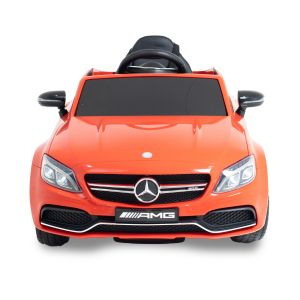 Mercedes C63 AMG kidscar red front view