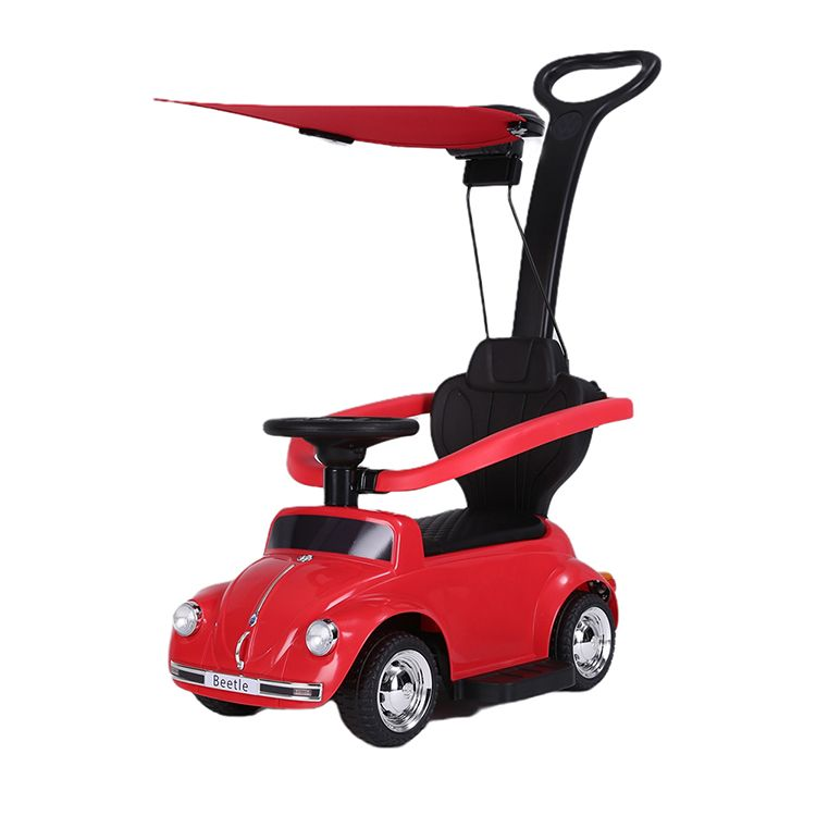 Volkswagen Beetle ride-on car with sunshade red