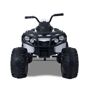 Electric quad kids white front view