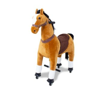 Kids horse brown big front view