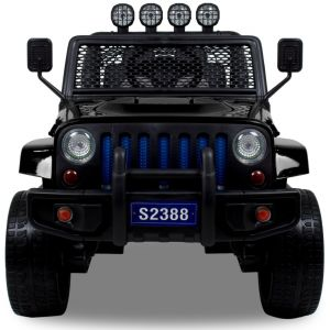 Monster Jeep 4x4 kidscar black front view