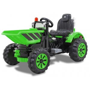 Kijana electric tractor with green bucket
