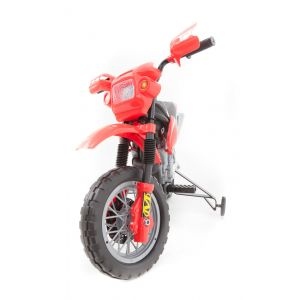 Electric kids motor red front view