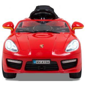 Speedster kidscar 12V red front view