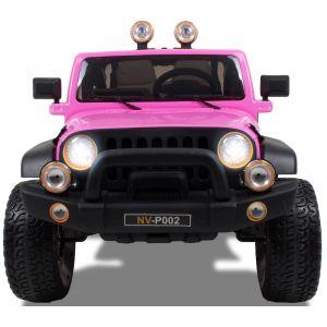 Jeep 2seats kidscar pink front view headlights