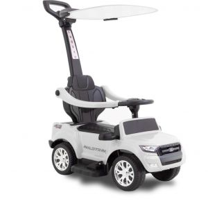 Ford electric walking car with umbrella white front view