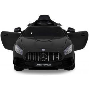 Mercedes GTR kidscar black front view doors-opened