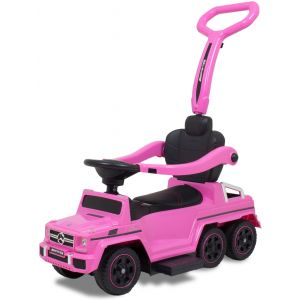 Mercedes G63 AMG push kidscar pink front view