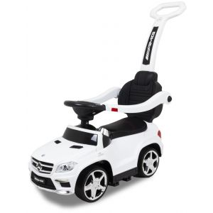 Mercedes push car white